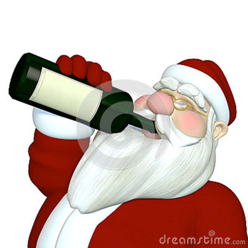 a-santa-drinking-wine-24650679