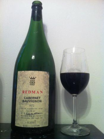 wine wankers wine blogs aged wine old wine vintage 1972 redman cabernet sauvignon