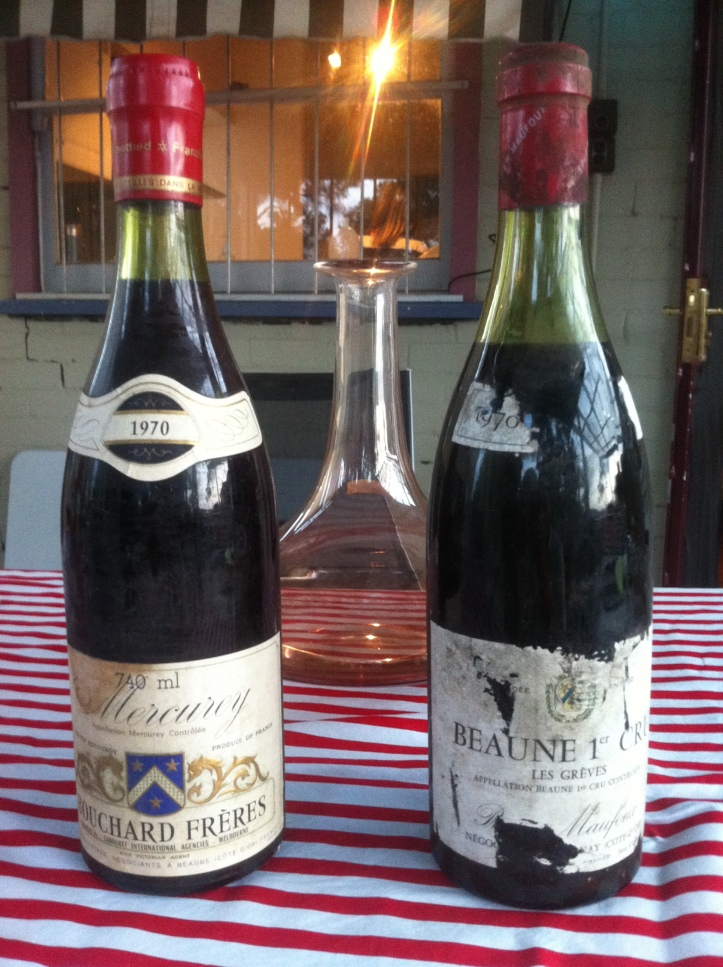 wine wankers  australian wine blog Prosper Maufoux Beaune 1er Cru 'Les Greves' Red Burgundy 1970