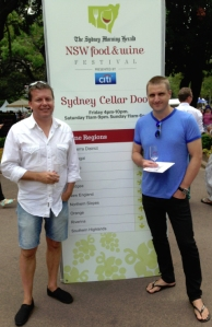 conrad and neal at sydney cellar door
