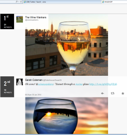 wine wankers are the top wine image tweeters on twitter