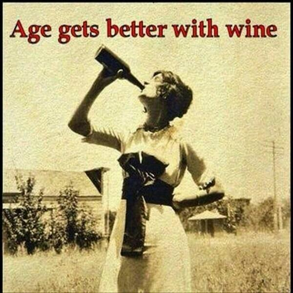 hilarious wine images age gets better with wine