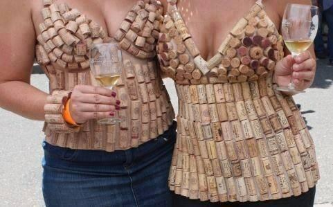 humorous wine images cork top big boobies