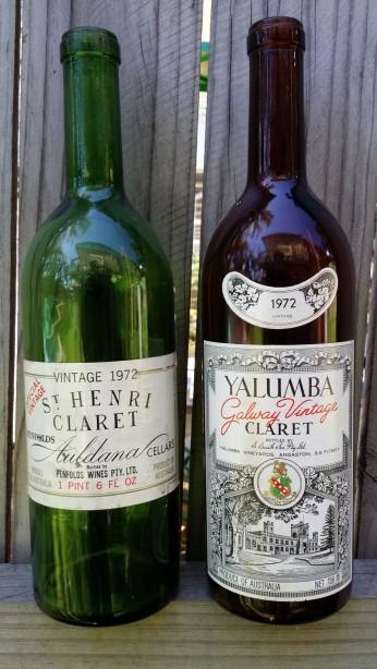 wine wankers penfolds st henri shiraz 1972 yalumba galway claret 1972
