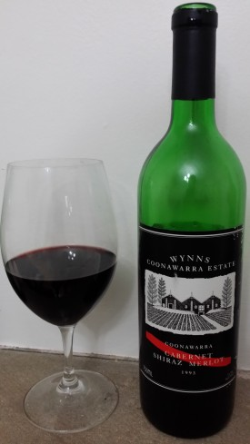 wine wankers wynns coonawarra cabernet shiraz merlot 1993 good wine blog