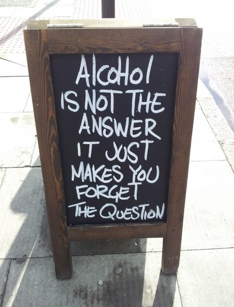 alcohol is not the answer wine wankers