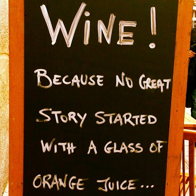 no great story started by wine wankers