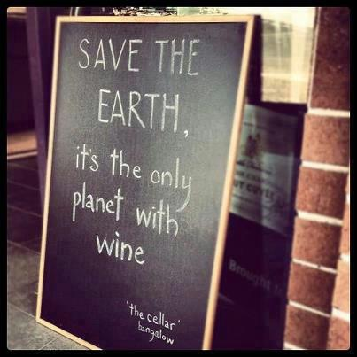 save the earth wine wankers
