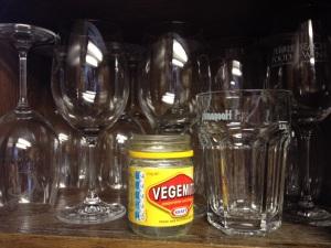 wine wankers Vegimite glass