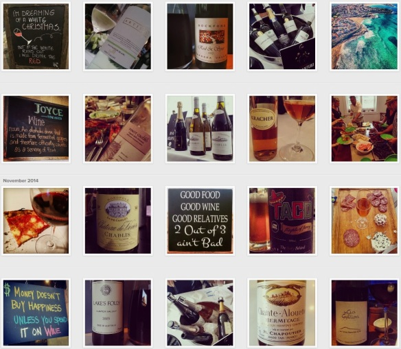 The Wine Wankers as we appear on Instagram (click for more detail)