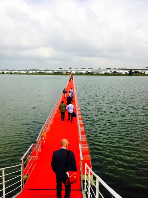 The floating red carpet - not advisable for those nursing a Vinexpo hangover