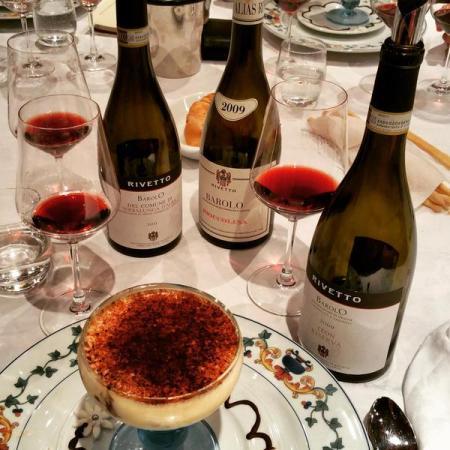 Wine Wankers Rivetto Barolo Serralunga wine makes dinner tiramisu