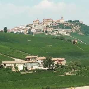 The hilltop village of La Morra.