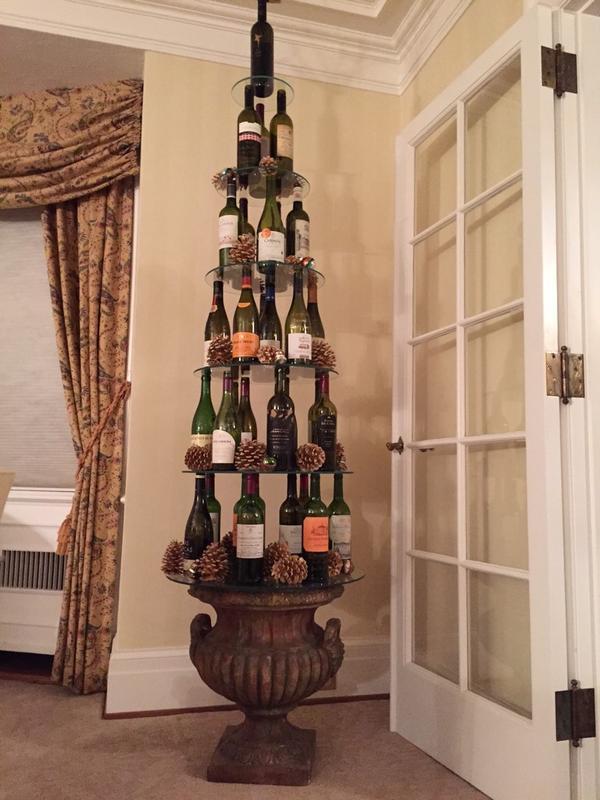 Wine Bottle Christmas Tree Rack.The Wine Wankers Wine Bottle Christmas Tree And Cones The