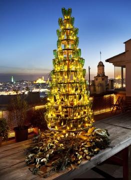Wine-Bottle-Christmas-Tree 2