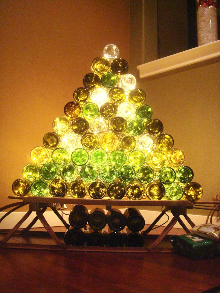 An Amazing Collection Of Wine Bottle Christmas Trees €� The
