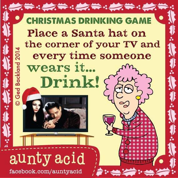 wine wankers christmas images christmas-hat-tv-aunty-acid