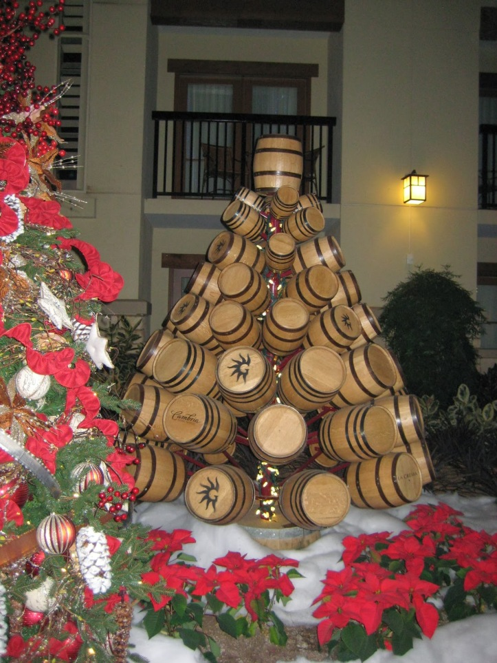 wine wankers christmas images christmas-tree-wine-barrels