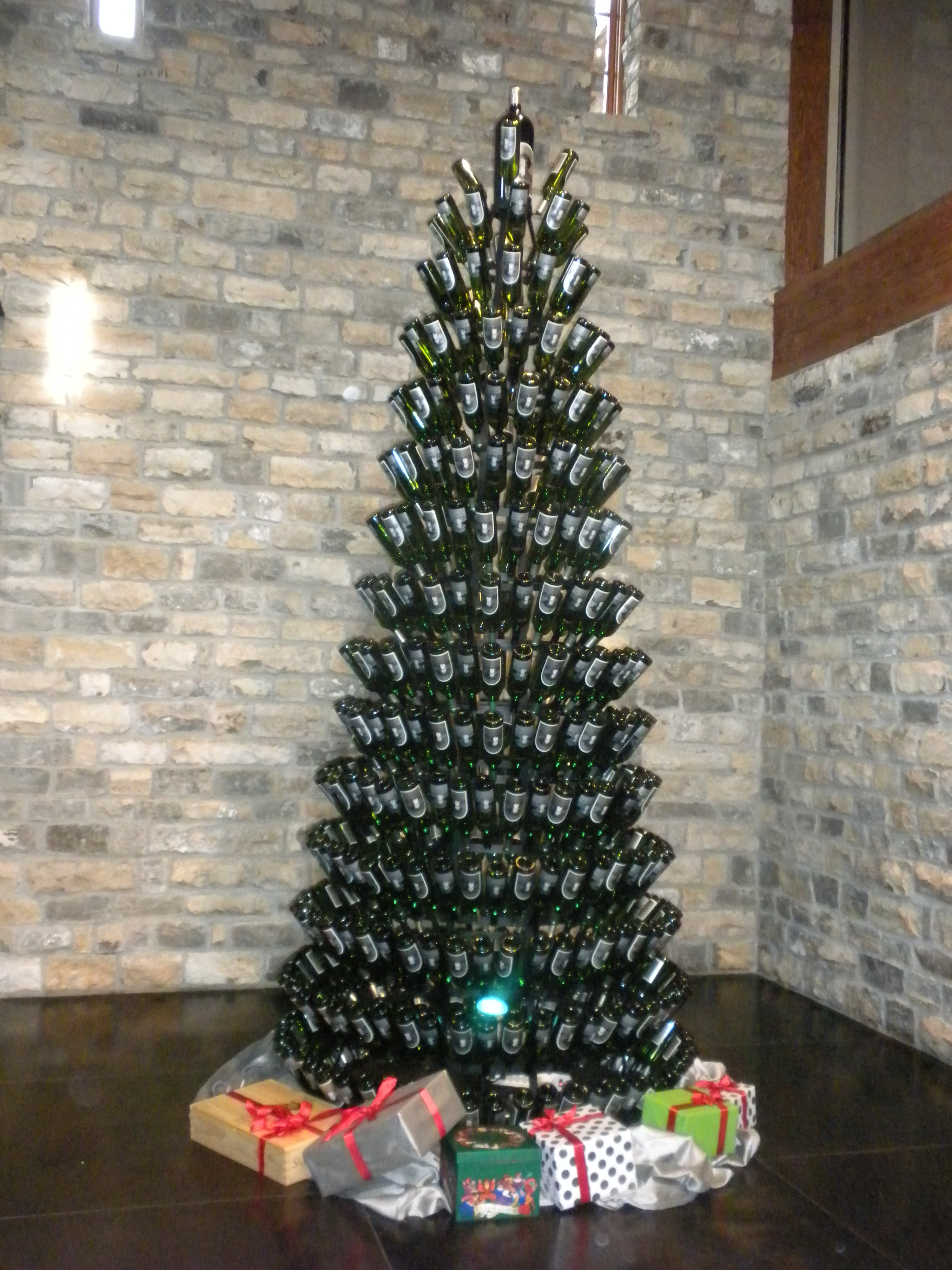advertisements - How To Make A Wine Bottle Christmas Tree