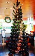 wine wankers wine bottle christmas tree tall bright