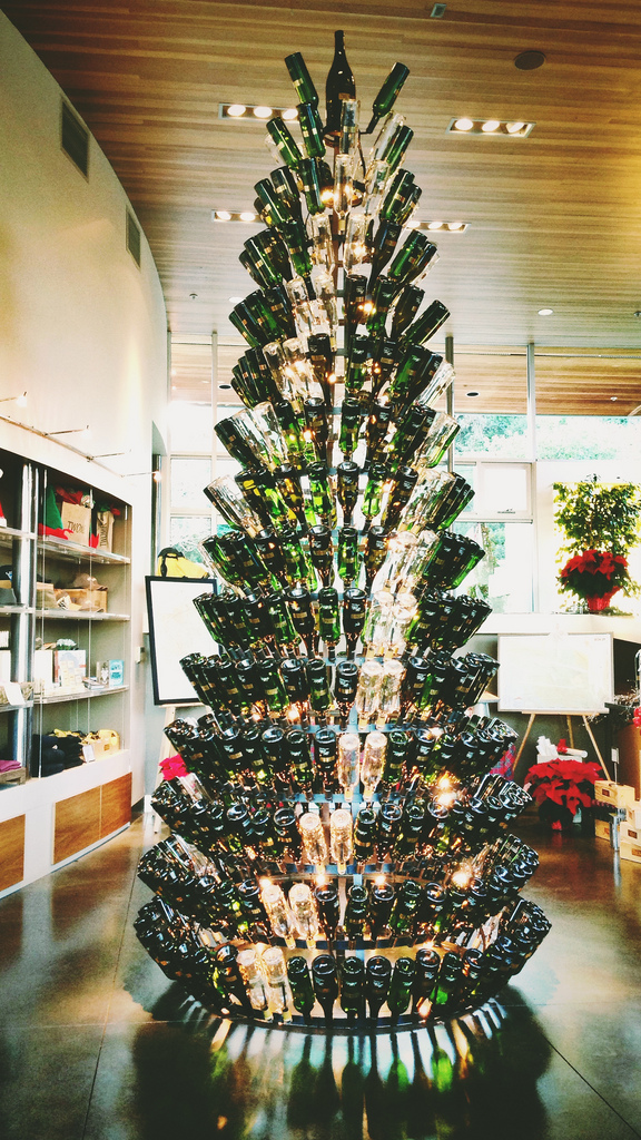 Wine Wankers Wine Bottle Christmas Tree Tall The Wine