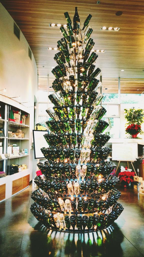 wine wankers wine bottle christmas tree tall