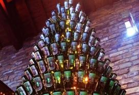 wine wankers wine bottle christmas tree top