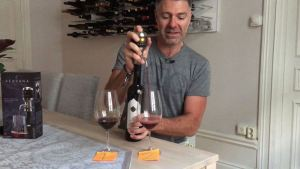 Pouring wine from Aervana